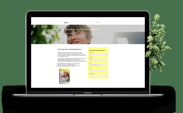 Gibon ebook landing page