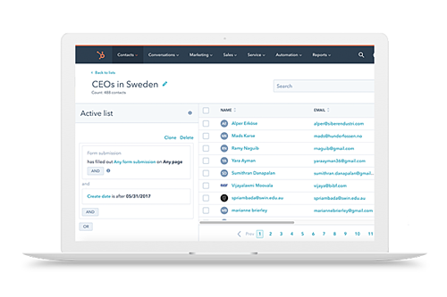 NetSuite lists